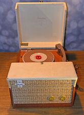 Silvertone Portable Turntable - Dual Speaker - 4 Speed - Tube Amp - Model 7236