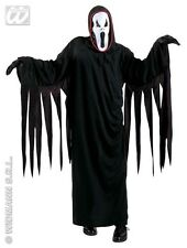 HALLOWEEN CARNEVALE COSTUME SCREAMING GHOST FANTASMA NERO BAMBINO 8/10 ANNI