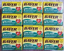 Bayer Aspirin Low Dose 81 mg 384 tablets - (32 ct x 12 boxes) Expires 2022