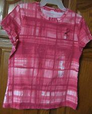 SIMPLY VERA WANG Women's Knit T-Top BREAST CANCER LOGO Pinks Sz. L Lrg   050:A-2