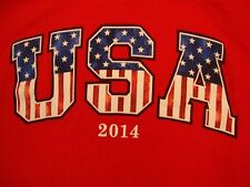 USA 2014 United States of America Flag Patriotic Red T Shirt M