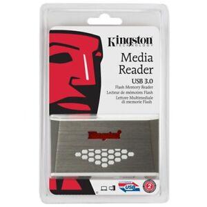 Kingston USB 3.0 Multi Media Memory Card Reader SD CF MicroSD MS DUO PRO - NEW