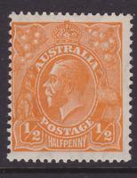 AUSTRALIA KGV 1/2d Orange CofA WMK MINT/MH SG 124  (LC46)