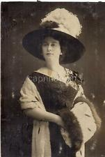 High Society Looking Victorian/Edwardian Fashion Woman Mrs Carter Antique Photo