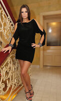 New Womens Ladies Cocktail Party Club Evening Sexy Formal Prom Mini Dress 8 - 22