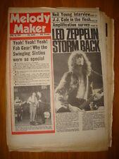 MELODY MAKER 1976 APR 10 LED ZEPPELIN BEATLES J J CALE