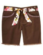 NWT Gymboree Glamour Safari Brown Belted Bermuda Shorts Size 7