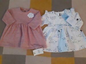Bnwt 2 Baby Girls Dresses Newborn (1 Disney Dalmatians)