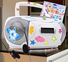 Stereo Musik Anlage CD Jungen Radio Player Kinder Kopfhörer Sternchen Big Light