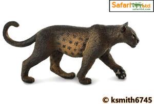 Safari BLACK PANTHER 2020 solid plastic toy wild zoo animal cat predator  NEW 💥