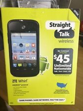BRAND NEW ZTE WHIRL Android Touch Wi-Fi Cell Phone STRAIGHT TALK NO CONTRACT