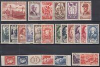 AG4944/ FRANCE – 1943 / 1949 MINT SEMI MODERN LOT - CV 250 $