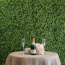 4 Panels -Artificial Boxwood Hedge Elliptical Leaves Foliage Green Garden Wall