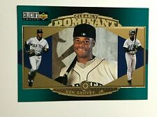 1997 Upper Deck Clearly Dominate No.CD2 & CD1 Ken Griffey Jr. Mariners  LOT