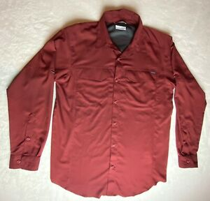 Columbia Men's Long Sleeve Button Up Hiking Fishing Outdoors Shirt size Medium