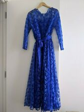 Vintage woman's purple dress lace overlay, handmade, size 12-14 (approx).