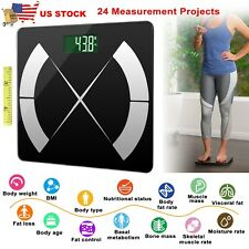 Smart Body Composition Fat Monitor Scale Digital Bathroom Scales Weight BMI USA