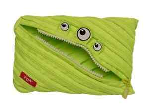 Pouch Pencil Zipit® Monster Jumbo Bag 15x23cm Made from One Long Zipper -Lime