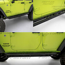 07-17 Jeep JK Wrangler Tubular W/ Step Armor Rock Sliders Rocker Guard Nerf Bar