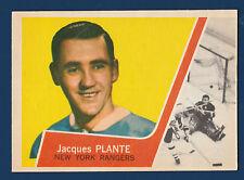 JACQUES PLANTE 63-64 TOPPS 1963-64 NO 45 NRMINT+++  5156
