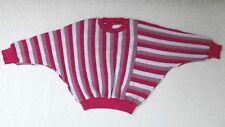 Vintage girls batwing jumper Age 6 UNUSED Windsor knit wear top Pink stripes
