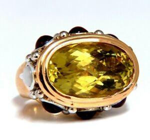 25ct Natural Lemon Quartz Vintage Ring 19 Karat Vintage Middle East 52 Gram