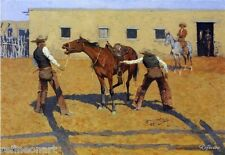 Frederic Remington His First Lesson Oil Painting repro