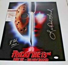 Kane Hodder Lar Park Lincoln Dual Autographed Jason Voorhees 16x20 Photo 4 JSA