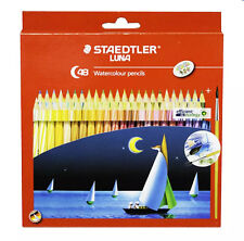 NEW STAEDTLER LUNA 48 COLOR - WATERCOLOR PENCIL IN CORDBOARD BOX FOR ART DRAWING