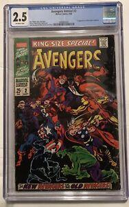 Avengers Annual #2 CGC 2.5