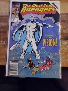 The West Coast Avengers 45 1st white vision NM CGC Ready Wanda vision