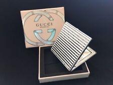 GUCCI BAMBOO SILVER COMPACT MAKE UP / POCKET MIRROR New in Box