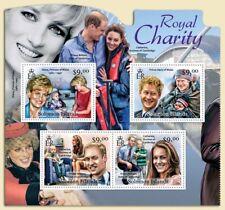 ROYAL CHARITY Princess Diana/Prince William/Harry/Kate Stamp Sheet/2012 Solomon