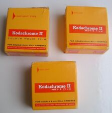 Vintage Kodachrome 11 movie film 25ft double 8mm roll dated 1974/75 x 3