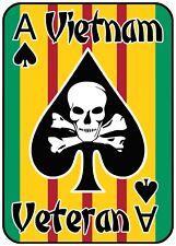 Vietnam Veteran Sticker, Ace of Spades, Vietnam war, US Military Veteran