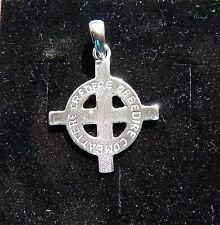 CROCE CELTICA incisa   celtic cross Ciondolo in argento 925 -sterling silver