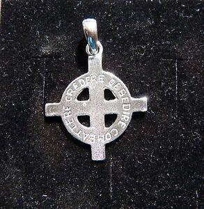 CROCE CELTICA incisa   celtic cross Ciondolo in argento 925 -sterling silver