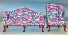 Bespaq 2 Piece Floral Print Living Room Set Dollhouse Furniture Miniatures
