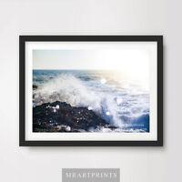 WAVE SPLASH SEA OCEAN Art Print Poster Nature Seascape A4 A3 A2 Pictures Decor