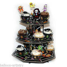 35,5 cm Boo Buddies Monsters Halloween a tre livelli CARD CUPCAKE CAKE STAND