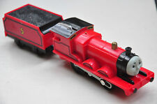 THOMAS TRACKMASTER TRAIN SET MOTORISED ENGINE -JAMES and his TENDER -Not working