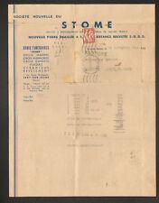 """IVRY-sur-SEINE (94) PIERRE Emaillée / Céramique / Marbre """"STOME"""" voyagée en 1945"""
