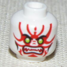 LEGO NEW MONSTER HEAD WHITE WITH RED MARKINGS HALLOWEEN NINJAGO STAR WARS