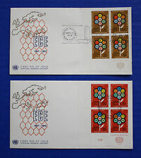United Nations - 1972 Economic Commission for Europe IB4 FDC set