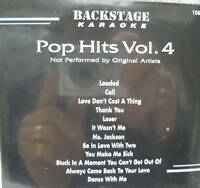**KARAOKE CD+G DISC BACKSTAGE KARAOKE POP HITS VOL.4**