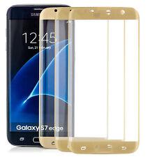 3x Curved Panzerfolie für Samsung Galaxy S7 Edge Gebogene Schutz Glas Folie Gold