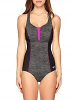 Speedo Women's Endurance+ Texture Touchback One Piece Swimsuit Sz 16