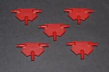 lot of 5 red K'Nex triangular panels   - combined shipping