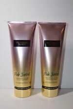 Victoria's Secret Set of 2 Pink Sunset Fragrance Lotion 236 ml/ 8 fl oz New