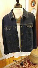 Eileen Fisher Womens 1X Dark Blue Denim Jacket EUC